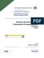 Técnicas de Intervención y Tratamiento Psicopedagógico