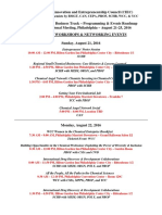 Entrepreneurial & Business Track – Programming & Events Roadmap 252nd ACS National Meeting, Philadelphia – August 21-25, 2016 SESSIONS, WORKSHOPS & NETWORKING EVENTS