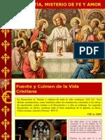 Eucaristía Misterio de Fe y Amor