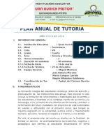 Plan Anual de Tutoria Año Escolar 2016 4to