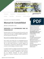 Manual de Contabilidad Para La Iniciación de No Financieros
