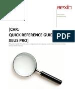 Aexio Xeus Pro 2012 CHR Quick Guide