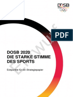 Eckpunkte DOSB Strategiepapier 2020
