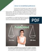 Factores Para Elevar La Rentabilidad Publicitaria