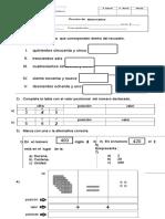 prueba  Numeración Valor Posicional  600