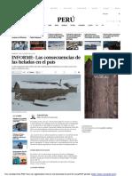 Informe Heladas en El Perú