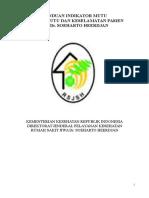 Panduan indikator mutu RSJ Dr. Soeharto Heerdjan.doc