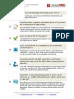 Preparation checklist...