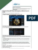 Overclocking IGP Intel HD Graphics 4400 Di Core i3-4130