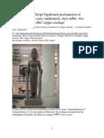 Dholavira Indus Script Signboard Proclam