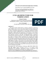 UVM ARCHITECTURE FOR VERIFICATION