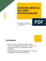 Assessing Medical Teachers' Professionalism 051214