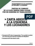 Carta Abierta a La Izquierda y Los Luchadores - Partido Obrero (2006)