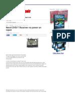 Netvil DVB-T Receiver No Power on Repair