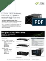 Datasheet Flatpack S 48V Rectifiers