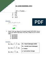 Kompilasi & Solusi Soal Ujian Nasional 2013