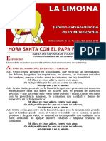 HORA SANTA EN EL AÑO DE LA MISERICORDIA. La Limosna (14)