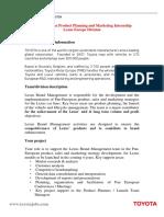 109372 product planning   marketing internship september 2016