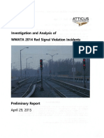 Investigation and Analysis of WMATA 2014 Red Signal Violation Incidents