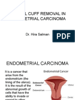 VAGINAL CUFF REMOVAL IN ENDOMETRIAL CARCINOMA (Dr. Hira) 21-10-2015.ppt