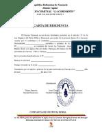 Carta de Residencia La Coromoto