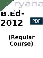 B.ed Regular
