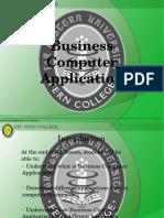 1 - Business Computer Application