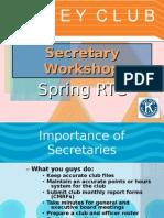 Secretary Workshop
