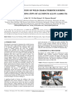 Experimental Study of Weld Characteristics During Friction Stir Welding (Fsw) of Aluminum Alloy (Aa6061-t6)