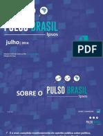 IPSOS PulsoBrasil 2016 Julho Cenario Politico