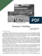 White Tony Rosemary(Swarms) 1967 Rhodesia