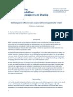 Biologische Effecetn Van Zwakke Elektromagnetische Straling - Stichting Kennisplatform Elektromagnetische Straling