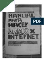 Manual casero para la transmicion de radio por internet