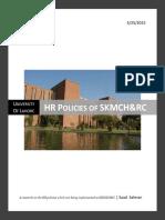 HR Policies of SKMCH&RC - Saad Salman