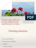 Cold Storage Solutions for the Marginal and Small Farmers in India