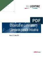 Eficiencia en Luminarios y Lamparas Para La Industria