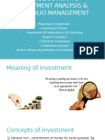 Introduction to Investment Analysis & Portfolio Management