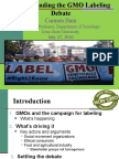 Understanding the GMO Labeling Debate