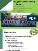 Understanding the GMO Labeling Debate