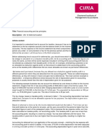 Financial Accounting and Tax Principle 2009
