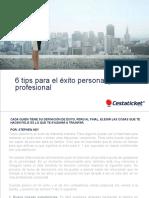 6 Tips Para El Exito Personal y Profesional