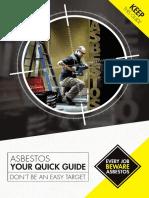 Beware Asbestos Reference Cards