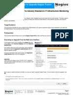Upgrading Nagios Fusion Using the Web UI