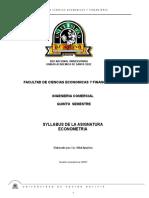 Syllabus de Econometria