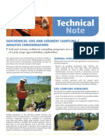 Geochemical Soil and Sediment Sampling