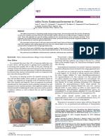 Allergic Contact Dermatitis From Aminoazobenzene in Tattoo 2155 6121.1000159