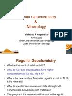 Regolith geochemistry