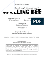 25th Annual Putnam County Spelling Bee Score