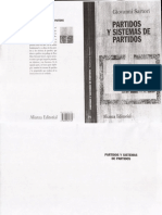 Partidos y sistemas de partidos Giovanni Sartori