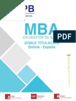 MBA Gestión de Salud (LP)